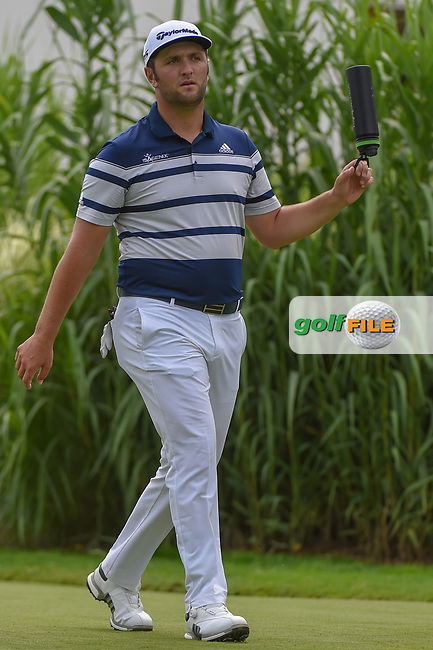 Jon Rahm (ESP) heads down 16 during 1st round of the World Golf Championships - Bridgestone Invitational, at the Firestone Country Club, Akron, Ohio. 8/2/2018.<br /> Picture: Golffile | Ken Murray<br /> <br /> <br /> All photo usage must carry mandatory copyright credit (© Golffile | Ken Murray)