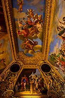 Intricate ceilings, Louvre Museum, Paris, France.