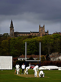 Scottish National Cricket League, Premier Div - Dunfermline CC V Aberdeenshire CC, at McKane Park, Dunfermline - in the shadow of of the town's famous and ancient Abbey, Dunfermline (last years Div 1 Champions) take on Aberdeenshire (last years Prem Div Champions), with Shire bowler Richie Lamb bowling - Picture by Donald MacLeod 25.04.10 - mobile 07702 319 738