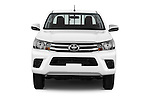 Car photography straight front view of a 2016 Toyota Hilux GL 4 Door Pickup Front View