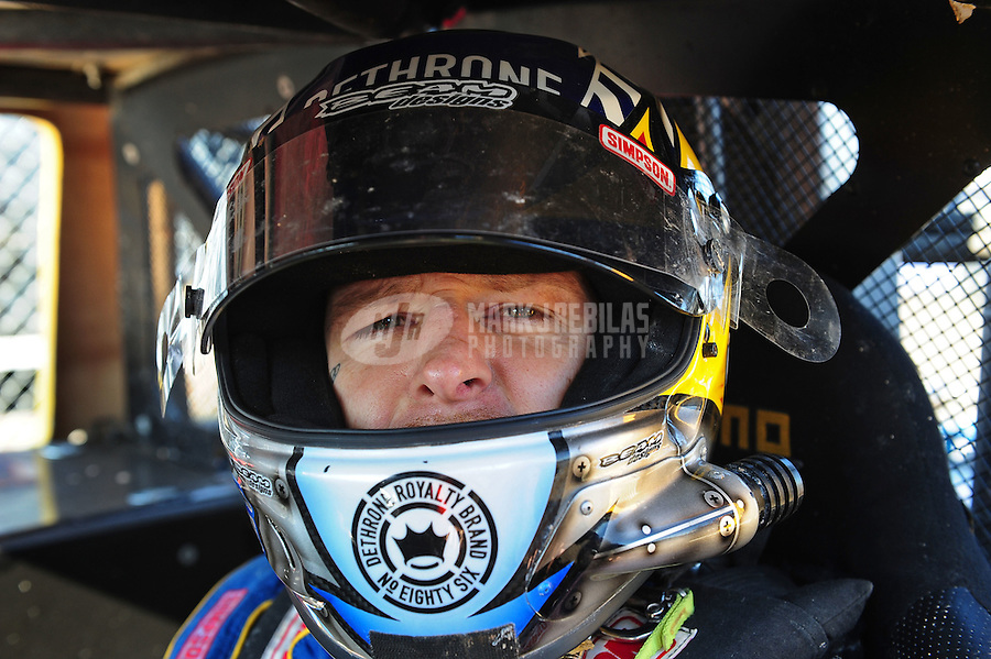 Dec. 9, 2011; Chandler, AZ, USA;  LOORRS super lite driver Jason Ellis during qualifying for round 15 at Firebird International Raceway. Mandatory Credit: Mark J. Rebilas-