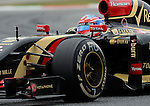 Renault's driver Romain Grosejean drives during a race at the Circuit de Catalunya on May 11, 2014. <br /> PHOTOCALL3000/PD