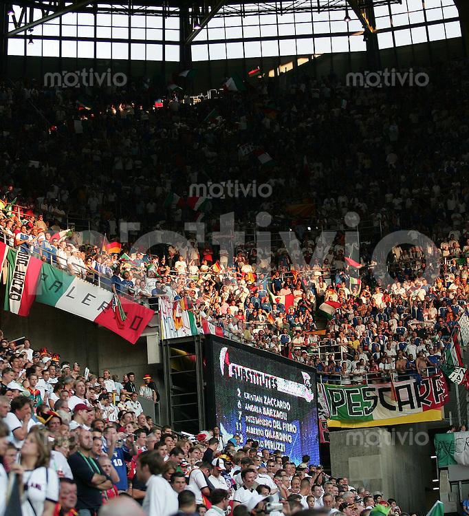 Fussball WM 2006 Halbfinale  Deutschland - Italien Zuschauer-Feature