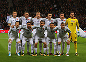 5th October 2017, Hampden Park, Glasgow, Scotland; FIFA World Cup Qualification, Scotland versus Slovakia;  Slovakia players pre match line up