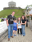 Peter, Wendy, Alan and Megan Campbell pictured at Millmount on Walled Towns Day. Photo:Colin Bell/pressphotos.ie