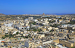 High density buildings looking east towards Xewkija from the town of Rabat Victoria Gozo, Malta