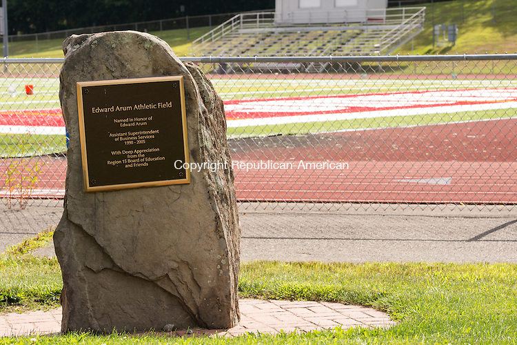 SOUTHBURY, CT- 19 August 2015-081915EC08-  Pomperaug's football stadium is named after Edward Arum. Erin Covey Republican-American