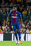 Samuel Umtiti of FC Barcelona in action during the La Liga 2017-18 match between FC Barcelona and Malaga CF at Camp Nou on 21 October 2017 in Barcelona, Spain. Photo by Vicens Gimenez / Power Sport Images