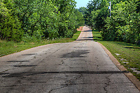 Old allignment of Route 66 through Arcadia Oklahoma.