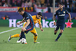 Atletico de Madrid's Lucas Fernandez and FC Barcelona Luis Suarez during Champions League 2015/2016 Quarter-Finals 2nd leg match. April 13, 2016. (ALTERPHOTOS/BorjaB.Hojas)