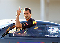 Sep 2, 2017; Clermont, IN, USA; NHRA pro stock driver Vincent Nobile during qualifying for the US Nationals at Lucas Oil Raceway. Mandatory Credit: Mark J. Rebilas-USA TODAY Sports