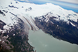 ALASKA, Homer, a glacier spills into the icy Gulf of Alaska, Kenai Peninsula