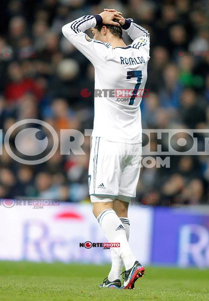 Real Madrid's Cristiano Ronaldo dejected during La Liga match. December 16, 2012. (ALTERPHOTOS/Alvaro Hernandez)