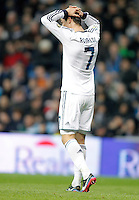 Real Madrid's Cristiano Ronaldo dejected during La Liga match. December 16, 2012. (ALTERPHOTOS/Alvaro Hernandez)