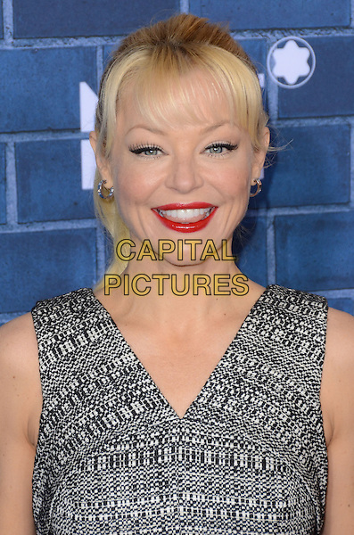 Charlotte Ross.Montblanc Hosts Pre-Oscar Charity Brunch Benefiting UNICEF held at Hotel Bel-Air, Los Angeles, California, USA..February 23rd, 2013.headshot portrait red lipstick grey gray  print sleeveless  .CAP/ADM/TW.©Tonya Wise/AdMedia/Capital Pictures