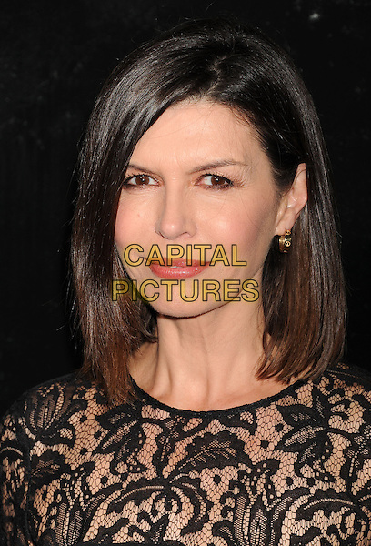 Finola Hughes<br /> Premiere of &quot;Captain Phillips&quot; held at the Academy of Motion Picture Arts and Sciences, Beverly Hills, California, USA.<br /> September 30th, 2013<br /> headshot portrait black lace  <br /> CAP/ROT/TM<br /> &copy;Tony Michaels/Roth Stock/Capital Pictures