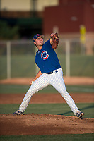 AZL Cubs 1 relief pitcher Peyton Remy (54) delivers a pitch during an Arizona League game against the AZL Padres 1 at Sloan Park on July 5, 2018 in Mesa, Arizona. The AZL Cubs 1 defeated the AZL Padres 1 3-1. (Zachary Lucy/Four Seam Images)