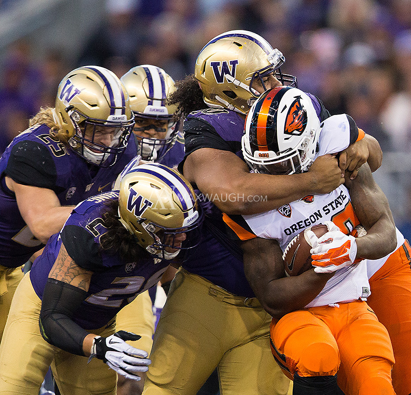 Vita Vea and the Husky defense were smothering at times in the Huskies 41-17 win.