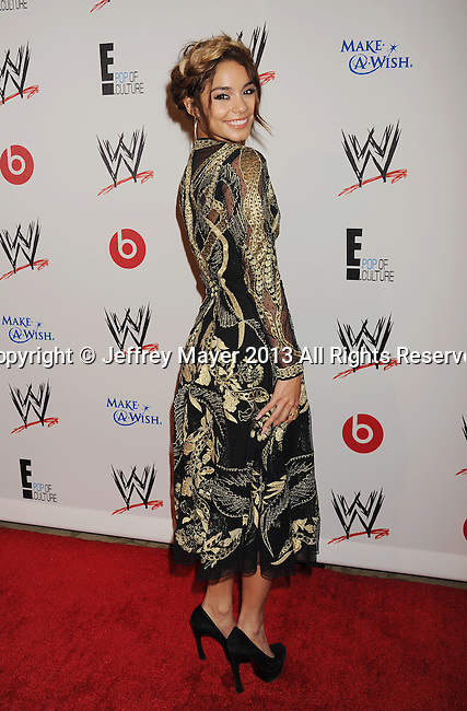 BEVERLY HILLS, CA- AUGUST 15: Actress Vanessa Hudgens attends WWE & E! Entertainment's 'SuperStars For Hope' at the Beverly Hills Hotel on August 15, 2013 in Beverly Hills, California.