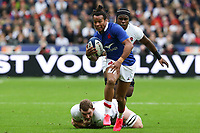 2nd February 2020, Stade de France, Paris; France, 6-Nations International rugby union, France versus England;  Teddy Thomas (France) slips the tackle and into open field