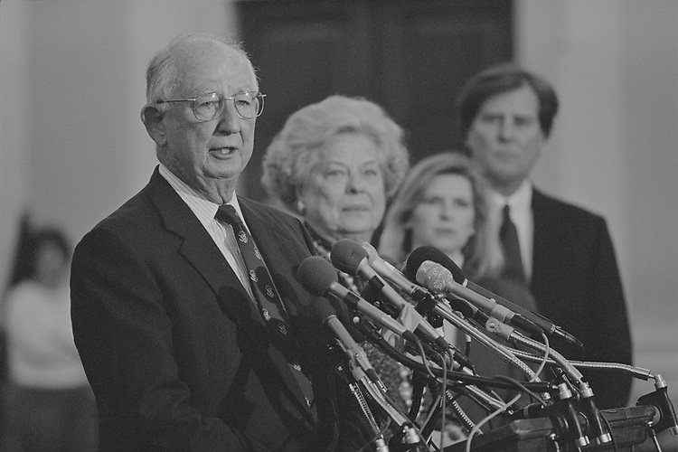 Rep. Sam Gibbons, D-Fla. retires in March 1996. (Photo by Laura Patterson/CQ Roll Call)