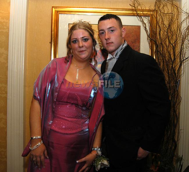 Rosalyn daly and David Mc Crippen at the Greenhills grad in the Newgrange hotel in Navan..Photo: Colin Bell/Newsfile