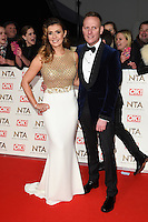 Kym Marsh and Anthony Cotton<br /> at the National TV Awards 2017 held at the O2 Arena, Greenwich, London.<br /> <br /> <br /> &copy;Ash Knotek  D3221  25/01/2017