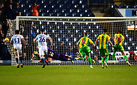 West Bromwich Albion's Jay Rodriguez scores his side's first goal  <br /> <br /> Photographer Richard Martin-Roberts/CameraSport<br /> <br /> The EFL Sky Bet Championship - Blackburn Rovers v West Bromwich Albion - Tuesday 1st January 2019 - Ewood Park - Blackburn<br /> <br /> World Copyright &copy; 2019 CameraSport. All rights reserved. 43 Linden Ave. Countesthorpe. Leicester. England. LE8 5PG - Tel: +44 (0) 116 277 4147 - admin@camerasport.com - www.camerasport.com