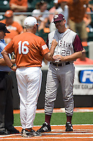 Childress, Rob 0324.jpg.  Big 12 Baseball game with Texas A&M Aggies at Texas Lonhorns  at UFCU Disch Falk Field on May 9th 2009 in Austin, Texas. Photo by Andrew Woolley.