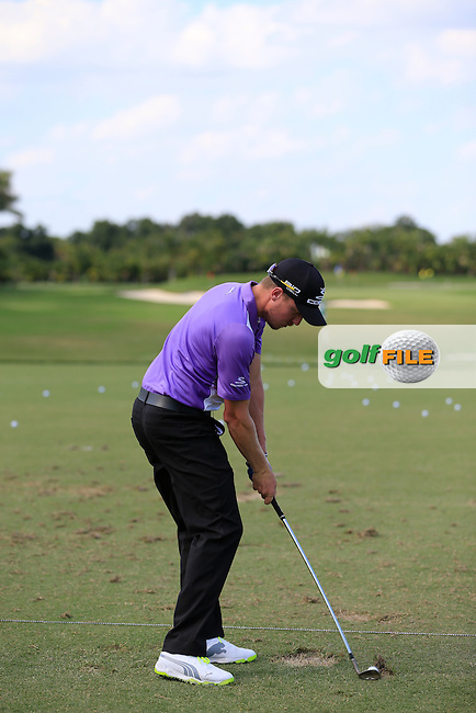 Jonas Blix (SWE) on the range during the practice day at the WGC Cadillac Championship, Blue Monster, Trump National Doral, Miami, Florida,USA.<br /> Picture: Fran Caffrey www.golffile.ie