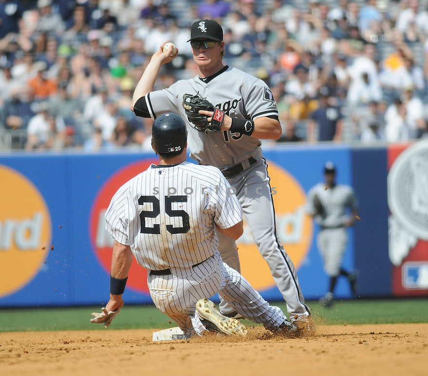 GORDON BECKHAM, of the Chicago White Sox, in action during the  White Sox game against the New York Yankees  at  Yankee Stadium  on May 1, 2010...The White Sox win 7-6.