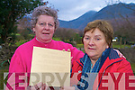 Gertie McDonnell, Kilcornan, Co Limerick, right, pictured with Eileen Cronin, Cronins Yard, Beaufort, as she placed a plaque in Cronins Yard on St Stephens Day, in memory of her son Ger who was killed on K2 on the 2nd August 2008...