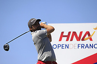 Romain Langasque (FRA) on the 3rd tee during Round 1 of the HNA Open De France at Le Golf National in Saint-Quentin-En-Yvelines, Paris, France on Thursday 28th June 2018.<br /> Picture:  Thos Caffrey | Golffile