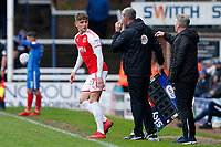 Harrison Biggins of Fleetwood Town joins the field during the Sky Bet League 1 match between Peterborough and Fleetwood Town at London Road, Peterborough, England on 28 April 2018. Photo by Carlton Myrie.