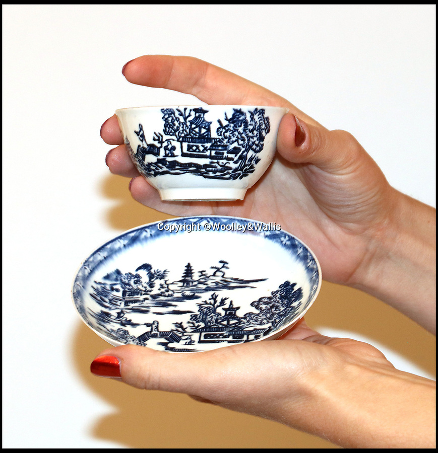 BNPS.co.uk (01202 558833)<br /> Pic:  Woolley&Wallis/BNPS<br /> <br /> A tea bowl and saucer which were bought on eBay for £1,000 could sell at auction for 100 times that amount.<br /> <br /> The savvy collector took a punt on the items as he believed they could have been made by trailblazing English potter John Bartlam.<br /> <br /> Bartlam, who was originally was Staffordshire, was responsible for the first pieces of porcelain fashioned in America 250 years ago.<br /> <br /> Scientific tests have proved the tea bowl and saucer were made at Bartlam's factory in Cain Hoy, South Carolina between 1765 and 1769.