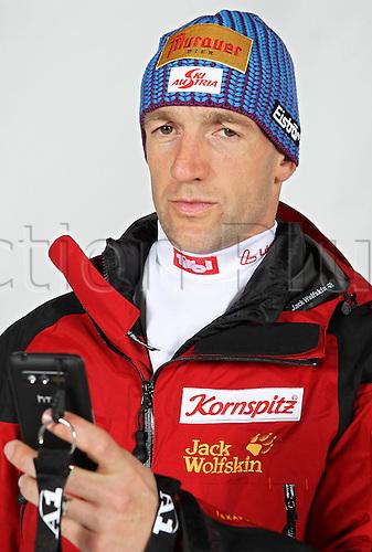 16.10.2010  Winter sports OSV Einkleidung Innsbruck Austria. Biathlon OSV Austrian Ski Federation. Picture shows Christoph Sumann AUT Keywords Handy