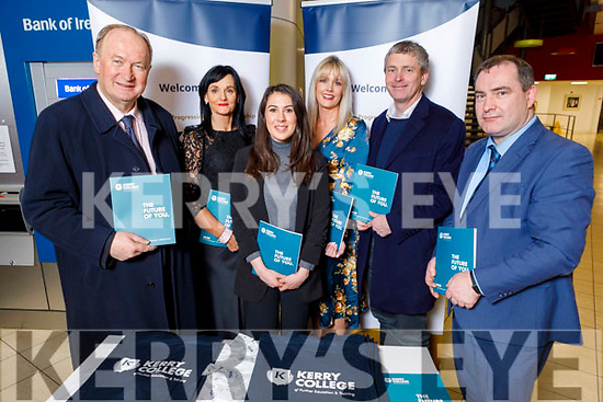 Attending the Kerry ETB Student Awards ceremony in the IT Tralee on Friday night.<br />  L to r: Cllr Jim Finucane (Mayor of Tralee), Mary Lucey (KCFE), Niamh O'Donovan, Toiréasa Ferris, Cllr: Pa Daly and Stephen Goulding.