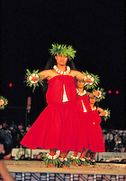 Hawaiian Hula dancers at Merrie Monarch festival