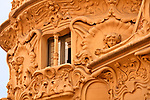Detail of the art nouveau facade of the SGAE mansion (Sociedad General de Autores y Editores) in the Chueca neighborhood of Madrid, Spain