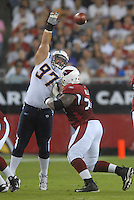 Aug 25, 2007; Glendale, AZ, USA; San Diego Chargers defensive tackle Ryon Bingham (97) against the Arizona Cardinals at University of Phoenix Stadium. San Diego defeated Arizona 33-31. Mandatory Credit: Mark J. Rebilas-US PRESSWIRE
