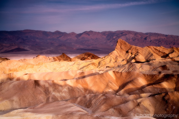 Photograph of Manly Beacon at Death Valley's Zabriskie Point