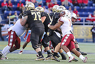 Annapolis, MD - December 27, 2016: Temple Owls defensive lineman Haason Reddick (7) sacks Wake Forest Demon Deacons quarterback John Wolford (10) during game between Temple and Wake Forest at  Navy-Marine Corps Memorial Stadium in Annapolis, MD.   (Photo by Elliott Brown/Media Images International)