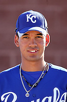 Humberto Arteaga - Kansas City Royals - 2010 Instructional League. The 16-year-old shortstop from Venezuela signed this summer for a $1.1 million bonus; he is now working out with the Royals Instructional League team at their training complex in Surprise, AZ..Photo by:  Bill Mitchell/Four Seam Images..