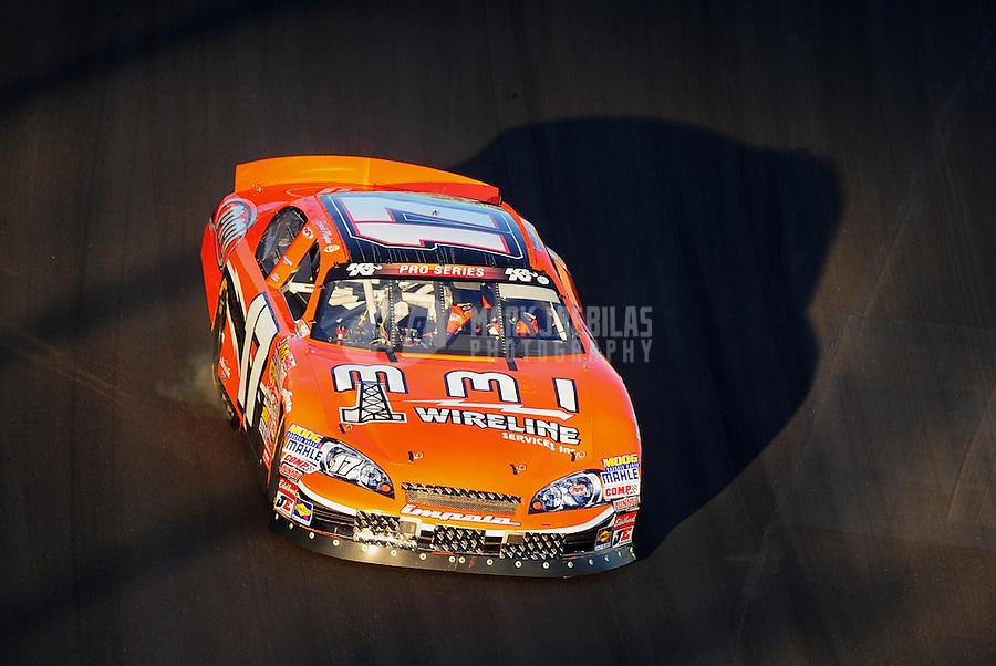 Mar. 3, 2012; Avondale, AZ, USA; NASCAR K&N Pro Series driver David Mayhew during the Talking Stick Resort 50 at Phoenix International Raceway. Mandatory Credit: Mark J. Rebilas-