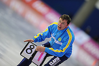 SCHAATSEN: Calgary: Essent ISU World Sprint Speedskating Championships, 28-01-2012, trainer Vadim Sayutin (KAZ), ©foto Martin de Jong