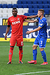 Jhon Cordoba (1. FC Koeln) und Pavel Kaderabek (Hoffenheim) beruehren sich.<br /> <br /> Sport: Fussball: 1. Bundesliga: Saison 19/20: 28. Spieltag: TSG 1899 Hoffenheim - 1. FC Koeln, 27.05.2020<br /> <br /> Foto: Markus Gilliar/GES/POOL/PIX-Sportfotos.<br /> <br /> Nur für journalistische Zwecke! Only for editorial use!<br /> <br /> Gemäß den Vorgaben der DFL Deutsche Fußball Liga ist es untersagt, in dem Stadion und/oder vom Spiel angefertigte Fotoaufnahmen in Form von Sequenzbildern und/oder videoähnlichen Fotostrecken zu verwerten bzw. verwerten zu lassen. DFL regulations prohibit any use of photographs as image sequences and/or quasi-video.