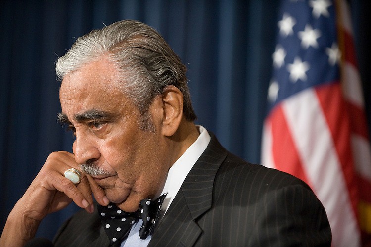 House Ways and Means Chairman Charles Rangel, D-N.Y., holds a news conference in the Capitol on Wednesday, Sept. 10, 2008, regarding his recent request for ethics investigations into his failure to report income from a vacation in the Domincan Republic.