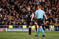 26th February 2020; Estadio Santiago Bernabeu, Madrid, Spain; UEFA Champions League Football, Real Madrid versus Manchester City; Kevin De Bruyne (Manchester City) gets ready to take and scores from the penalty spot  for 1-2 in the 83rd minute