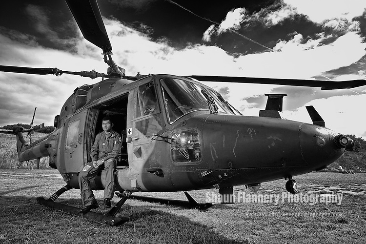 Pix: Shaun Flannery/shaunflanneryphotography.com<br /> <br /> COPYRIGHT PICTURE>>SHAUN FLANNERY>01302-570814>>07778315553>><br /> <br /> 29th August 2013<br /> Army Westland Lynx AH.7 XZ608 helicopter at Doncaster's Keepmoat Stadium.
