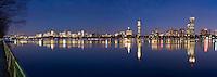 skyline sunset from MIT, Boston, MA
